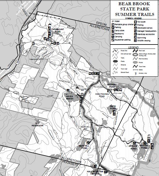 Bear Brook State Park Trailmeister: Bear Brook State Park Trail Map At Codeve.org