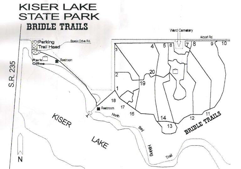 Kiser Lake State Park TrailMeister - Kiser lake map