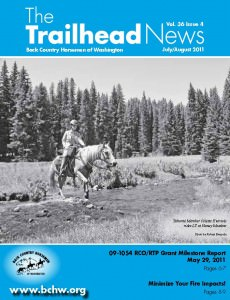 As published in the July / August2011 edition of BCHW's The Trailhead News Magazine