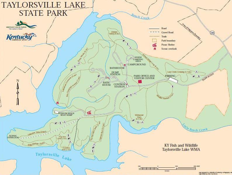 taylorsville lake wma map Taylorsville Lake State Park Trailmeister taylorsville lake wma map