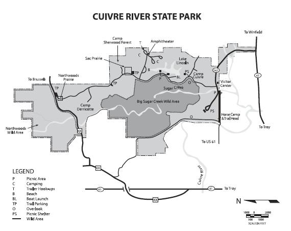 Cuivre River State Park Trailmeister: Cuivre River State Park Map At Codeve.org