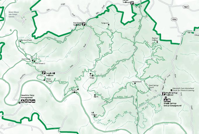Mammoth Cave National Park - TrailMeister on google map yuma, google map phoenix, google map tempe, google map camp verde, google map miami, google map hayden, google map globe, google map tucson, google map scottsdale, google map payson, google map icon,