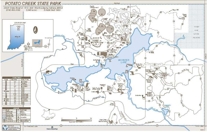 Potato Creek State Park - TrailMeister on detailed downtown indianapolis map, detailed indiana road map, indiana state historic sites map, mccormick's creek state park map, versailles state park trail map, indiana state fair grounds map, indiana amish communities map, state of indiana map, maryland parks map, pokagon state park map, indiana state forests map, mackinac island state park map, indiana state park lodges, indiana limestone map, indiana state park shelters, indiana state map postcard, campgrounds in indiana map, indiana caves map, indiana dunes state park, indiana military bases map,