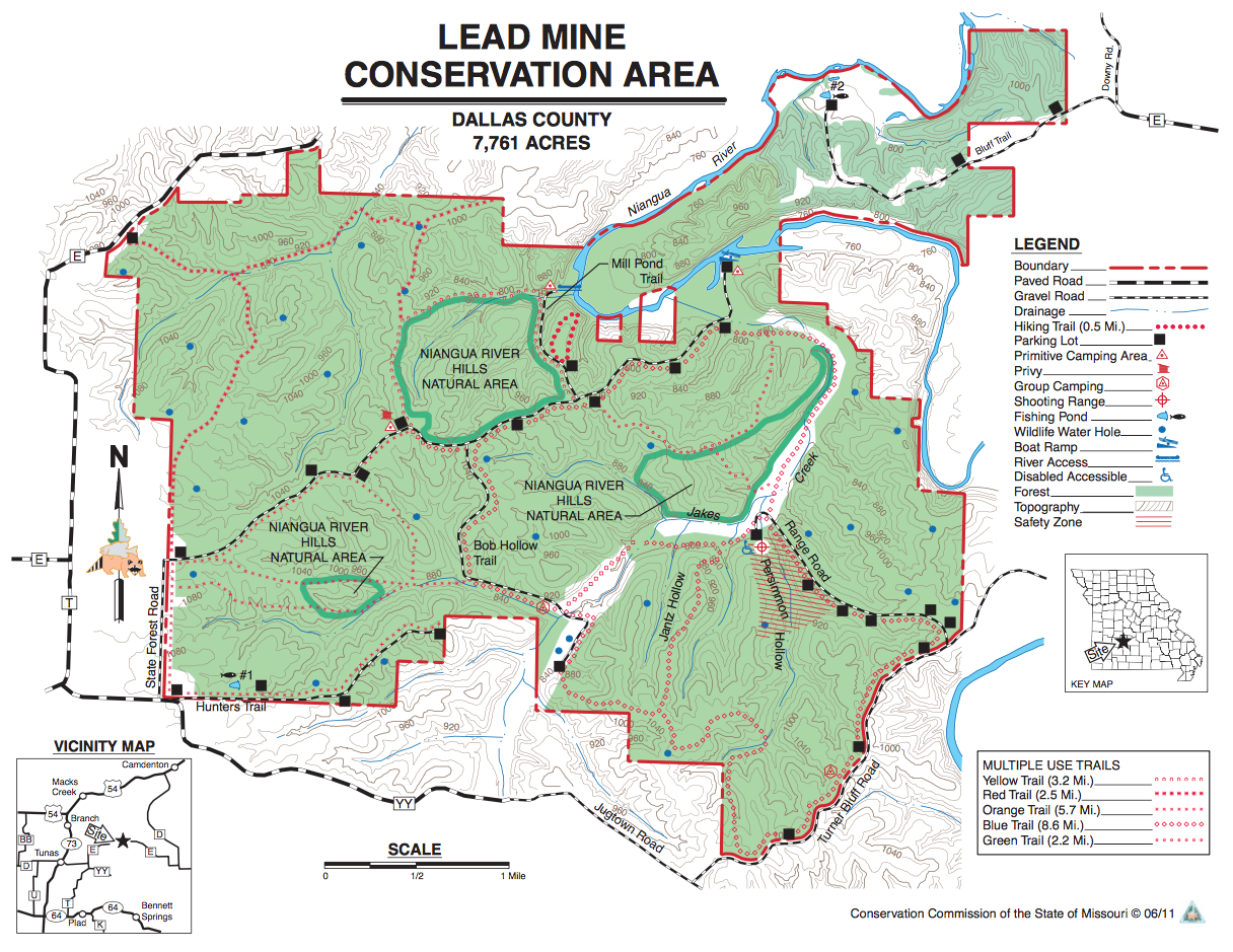 Lead mine conservation area trailmeister for Missouri conservation fishing license