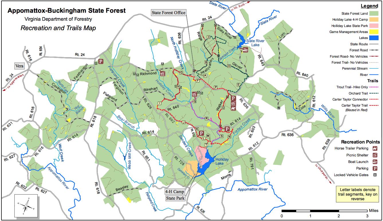 AppomattoxBuckingham State Forest TrailMeister